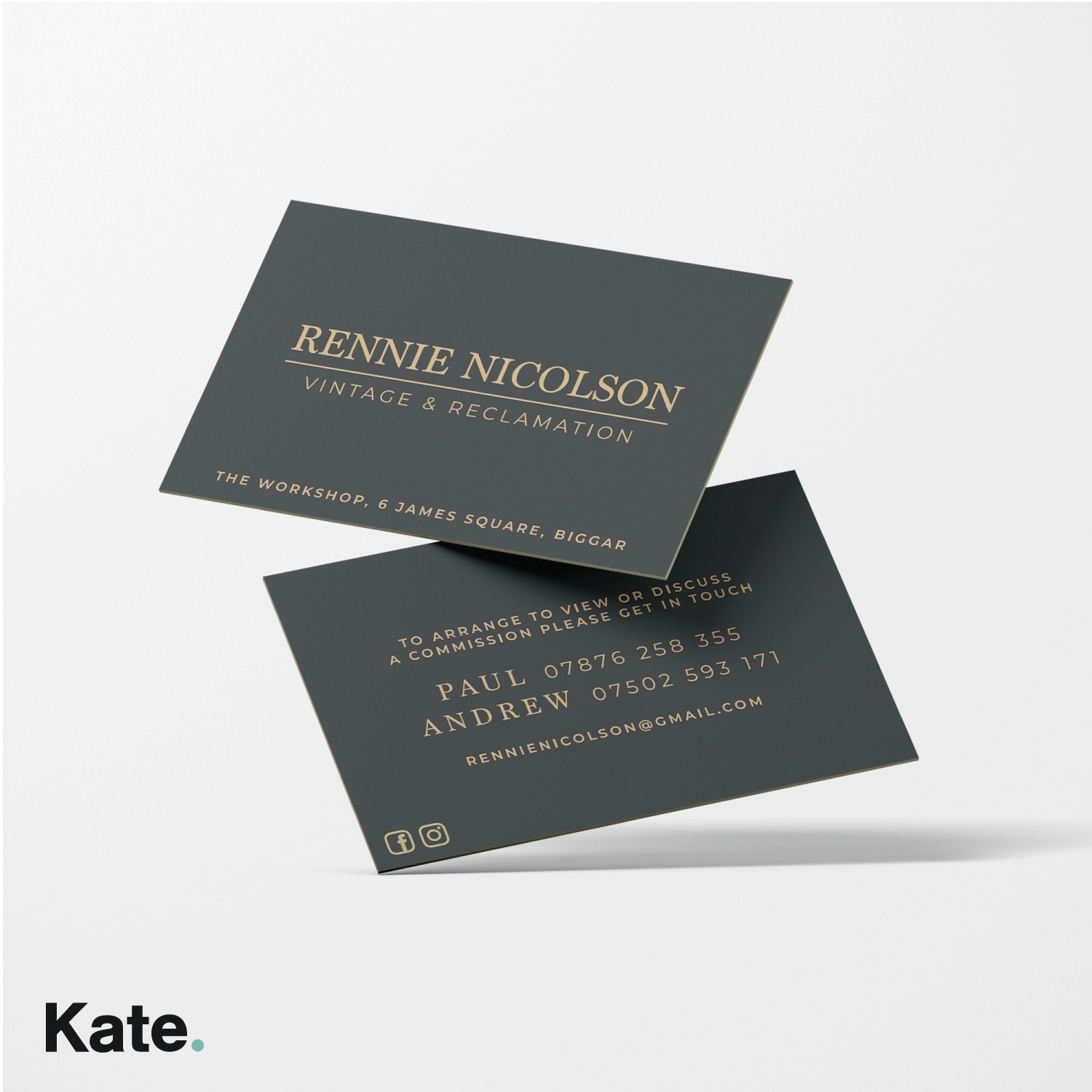 Rennie Nicolson Business cards