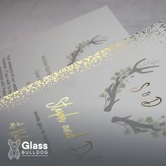 Bespoke foiled stag wedding invitation