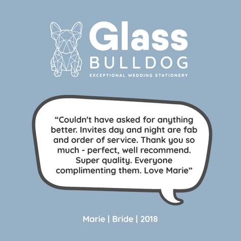 Glass Bulldog review Marie 2019