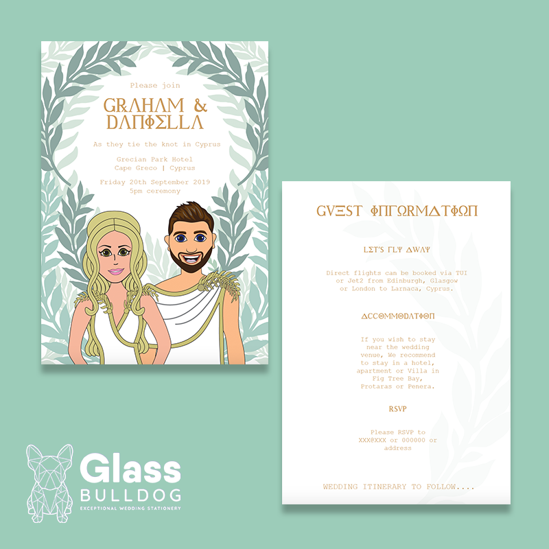 Cartoon Wedding invitation