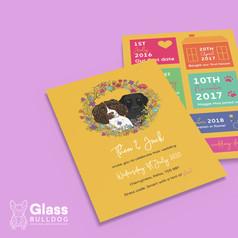 Bespoke dog wedding invitation