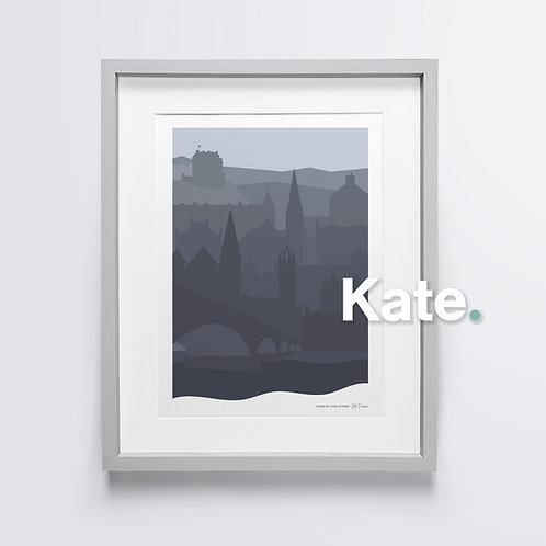 Peebles silhouette print (midnight)
