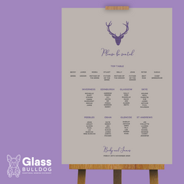 Tartan stag table plan