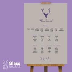 Tartan stag table plan