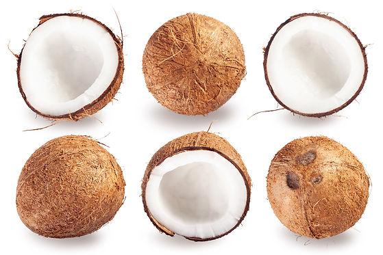 Brown mature Coconuts