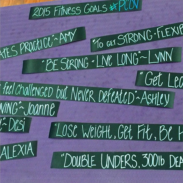 Our fitness goals for 2015
