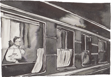 Shostakovich on the train
