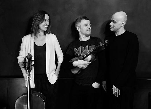 Le Page Trio. David Le Page, Viv McLean and Clare O'Connell.