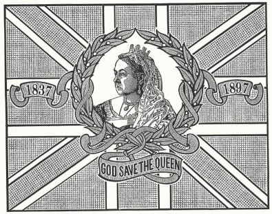 My drawing of a 1897 Queen Victoria Jubilee memorial flag