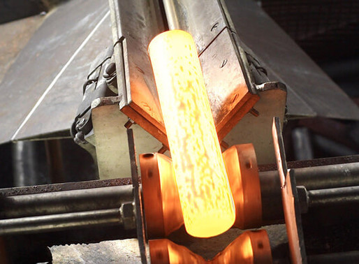 Simulation of induction heating of steel billets for forging