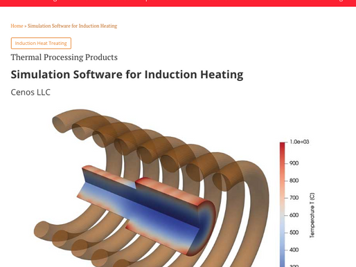 CENOS featured in INDUSTRIAL HEATING magazine