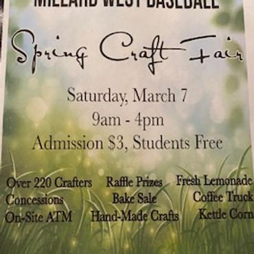 Millard West Spring Craft Show