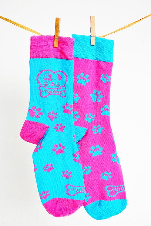 Ponožky Tuláčik - ružovomodré