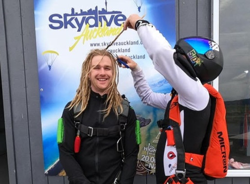 Komen's Skydiving Shave