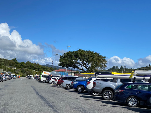 Greymouth Streets full for Coast to Coast!