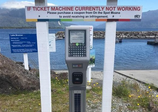 Moana boat ramp parking meter installed