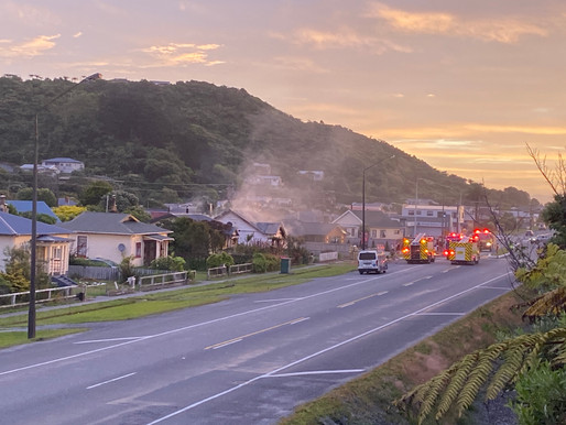 Greymouth House Gutted by Fire