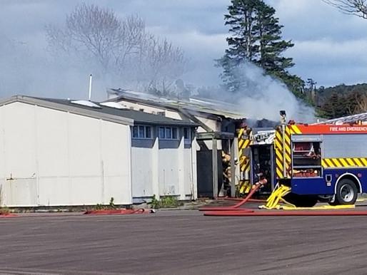 Afternoon School Blaze Suspicious