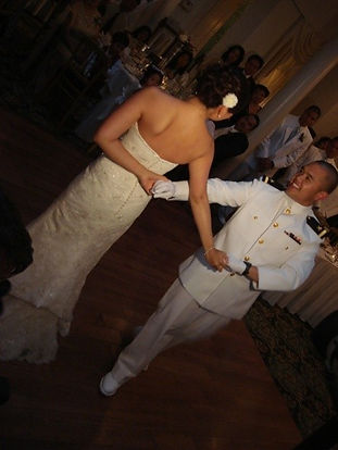 Wedding Ballroom Dance, First Dance, Navy couple