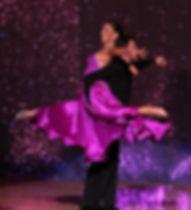 Ballroom Dancing Couple, Balloom Dance, purple dress, performance