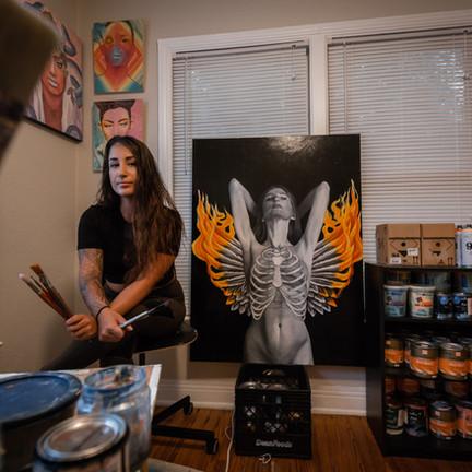 Melanie in her old studio in St. Petersburg