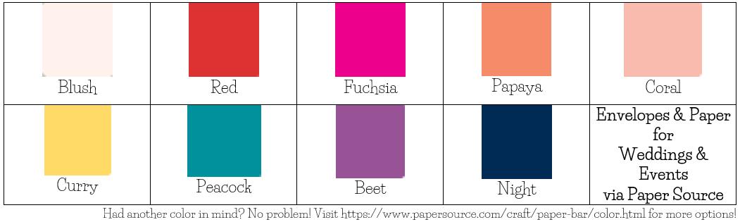 Top Paper Colors