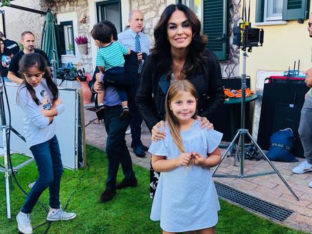 Ludovica sul set con Maria Grazia Cucinotta