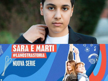 """Jacopo 2 mesi sul set per la serie Disney """"Sara e Marti"""""""