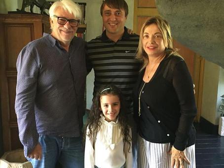 Giovanna a casa di Ricky Tognazzi e Simona Izzo