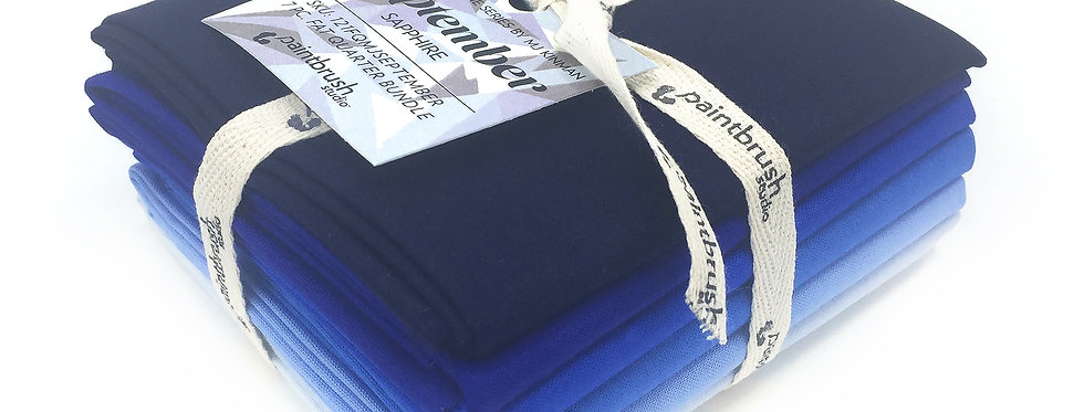 September, Sapphire Birthstone Fabric Bundle