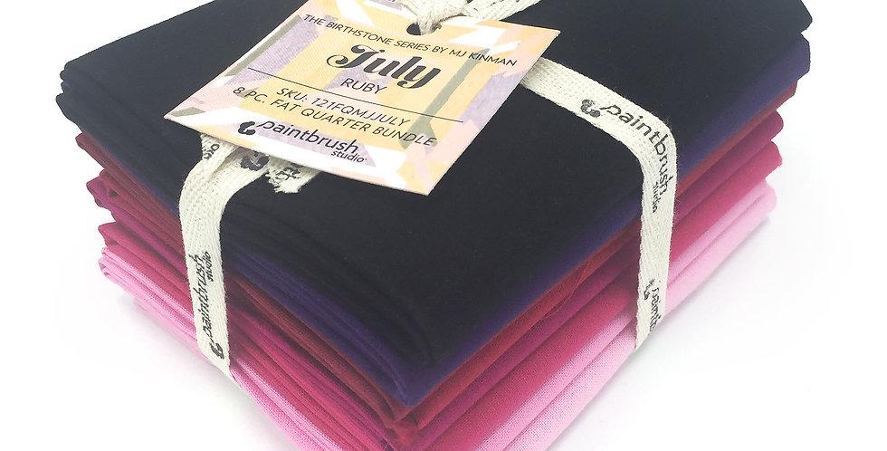 July Ruby Birthstone Fabric Bundle
