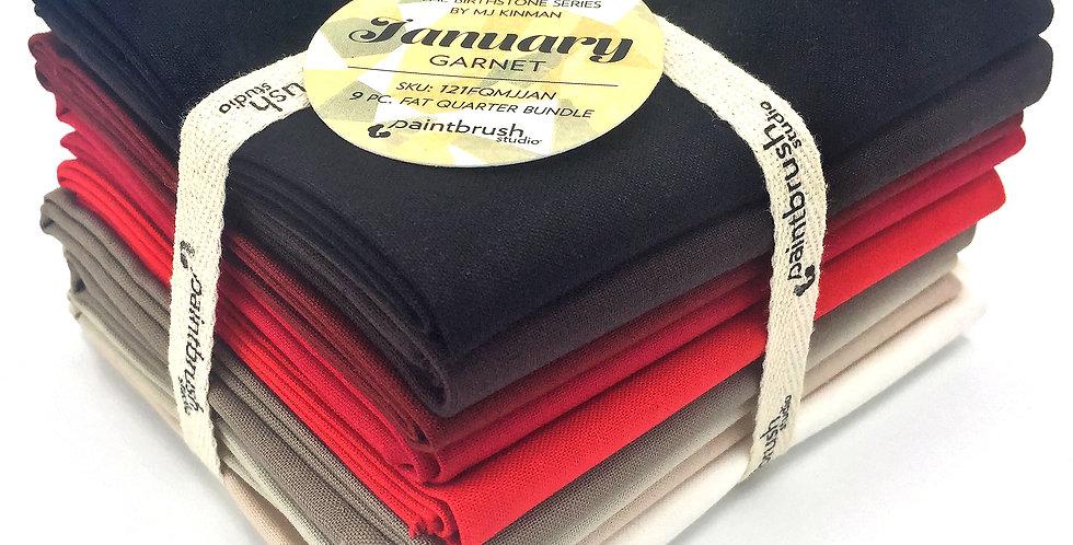 January, Garnet Birthstone Fabric Bundle
