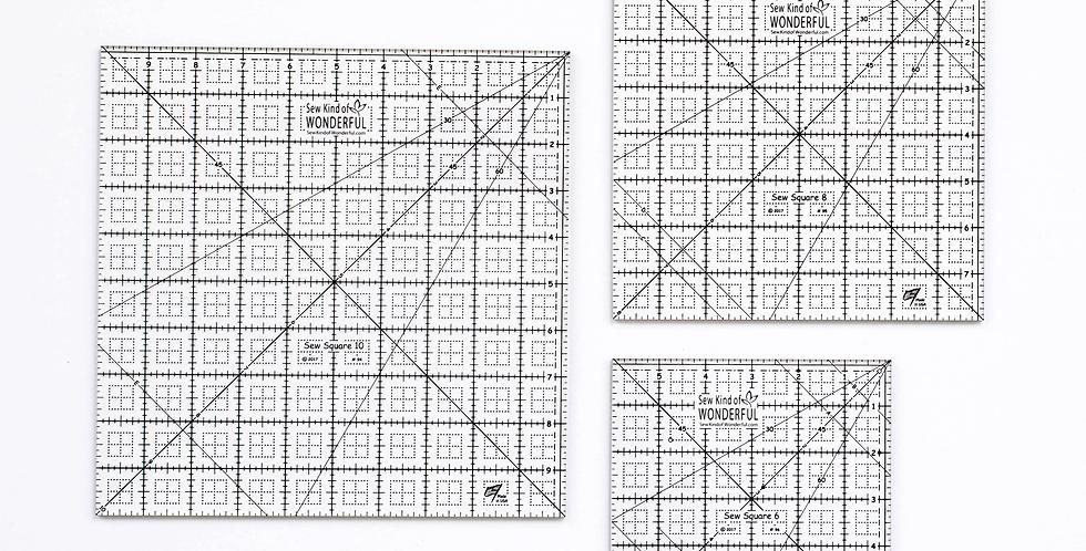 Sew Square Ruler Set