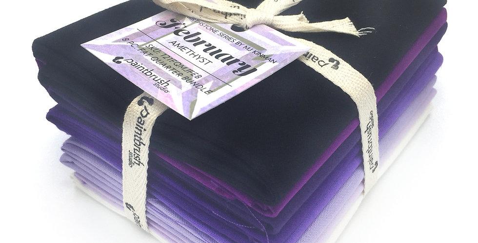 February, Amethyst Birthstone Fabric Bundle