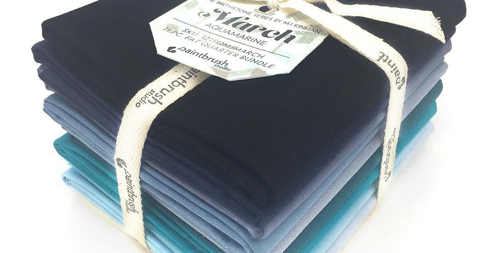 March, Aquamarine Birthstone Fabric Bundle