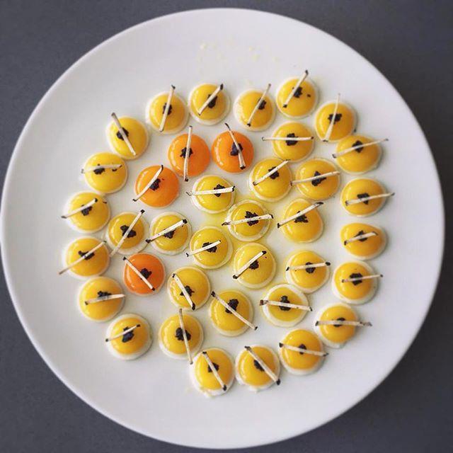 Quail eggs and black truffle mise en place_#borntocook #event #art #artinaplate #quail #quaileggs #b