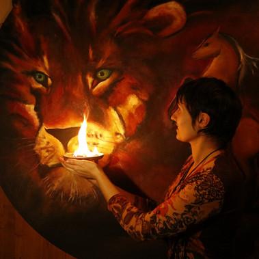 """""""Lions inside"""" essai feu"""