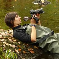 Shooting photo dans la rivière de Huelgoat