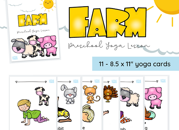 Farm Yoga Pose Cards