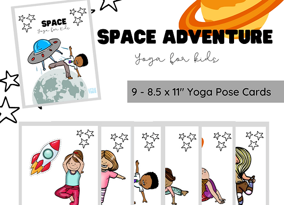 Space Adventure Yoga Cards