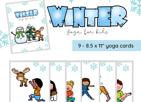 Winter Adventure Yoga Cards