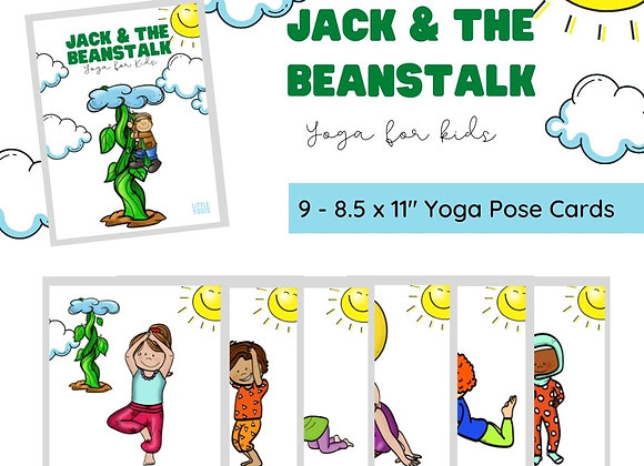 Jack & The Beanstalk Yoga Pose Cards