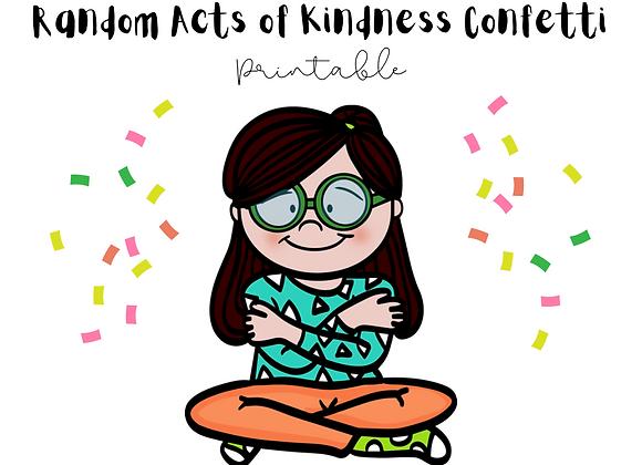 FREEBIE! Random Acts of Kindness Confetti Activity