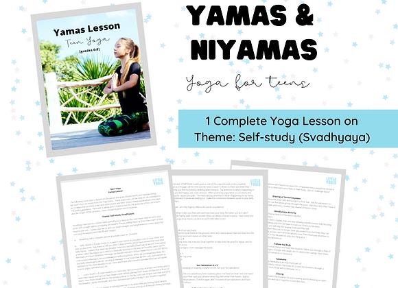 Yamas Lesson - Tween & Teen Yoga