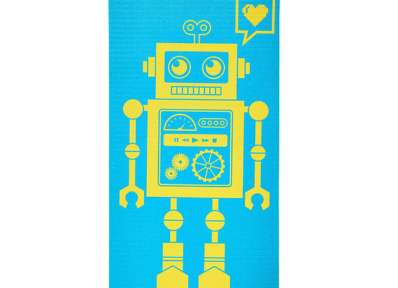 Merrithew Eco Mat for Kids - Pixel the Robot (Aqua)