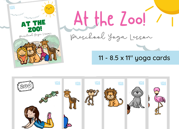 Zoo Yoga Pose Cards