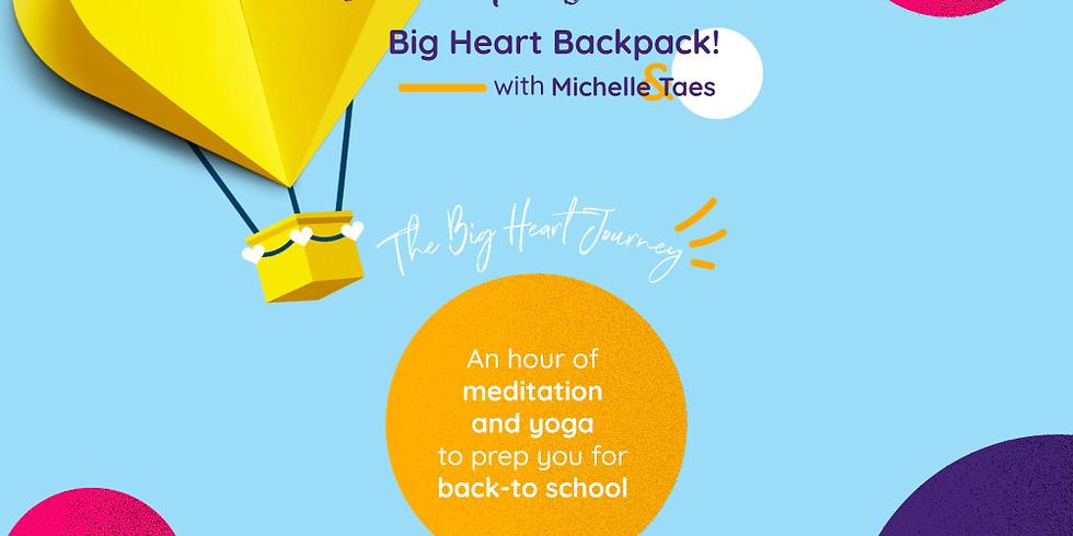 Back to School Big Heart Backpack