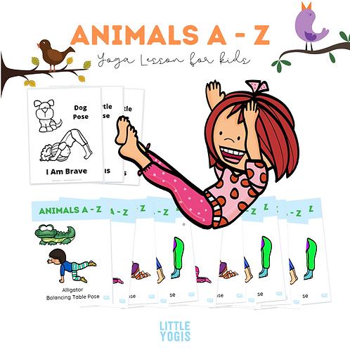 Animals A - Z Yoga Lesson