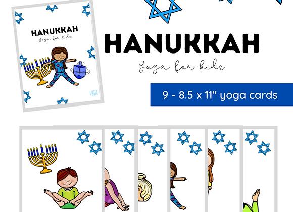 Hanukkah Yoga Cards