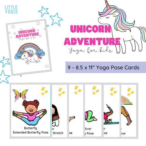 Unicorn Adventure Yoga Cards